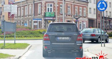 Pościg za terenowym mercedesem w Gorlicach