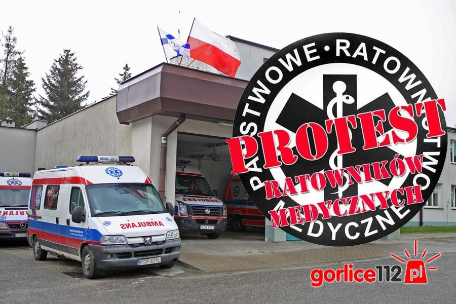 Gorlice: ratownicy medyczni rozpoczęli protest