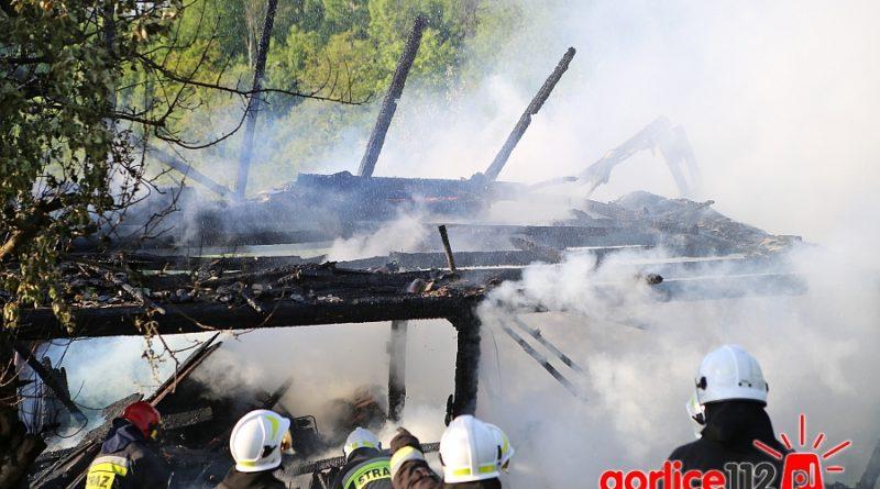 Pożar drewnianego budynku gospodarczego w miejscowości Staszkówka