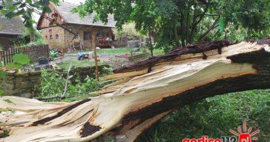 Nawałnica w Gminie Biecz zrywała dachy i łamała drzewa