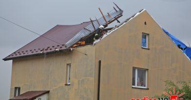 Nawałnica w powiecie gorlickim. W Łużnej wichura zerwała dach