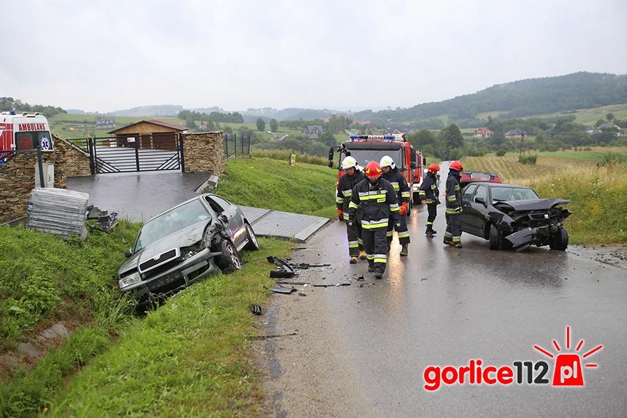 Jedna osoba trafiła do szpitala ze zdarzenia drogowe w miejscowości Bystra (gmina Gorlice)