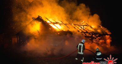 Łużna: pożar budynku gospodarczego na Podlesiu
