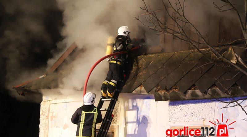 Pożar niezamieszkałego domu w miejscowości Łużna