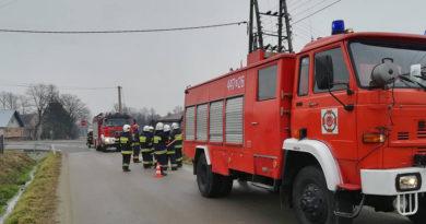 Pożar transformatora w miejscowości Libusza