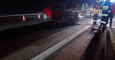 Zderzenie dwóch pojazdów na obwodnicy Biecza