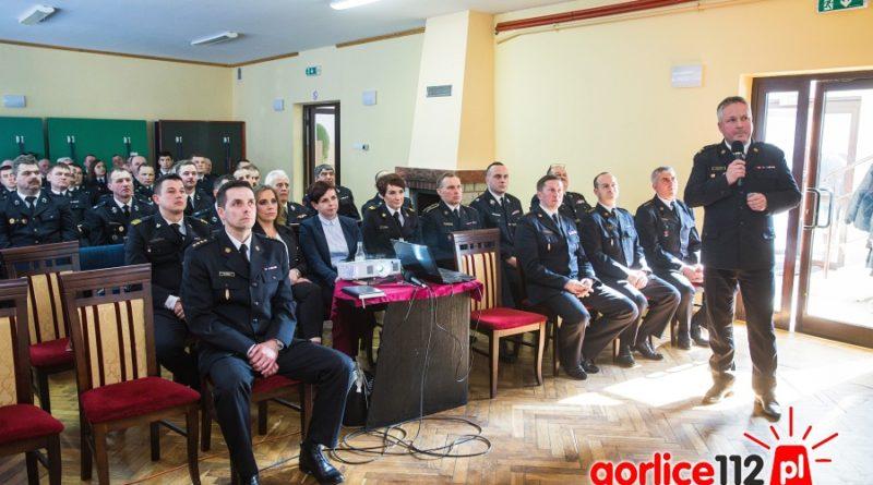 Odprawa roczna strażaków powiatu gorlickiego w miejscowości Łosie.