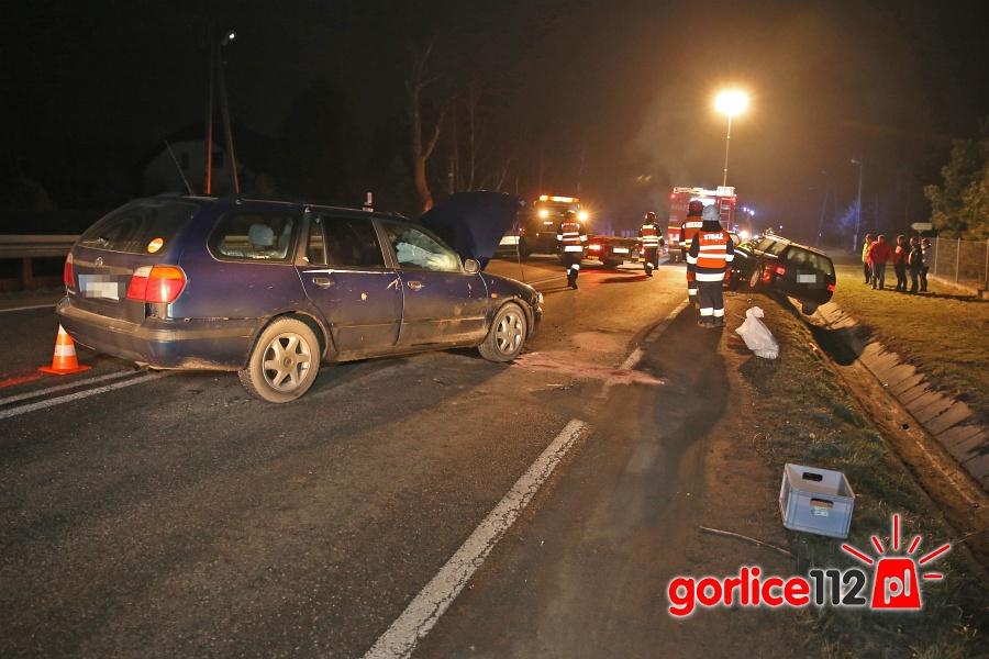 Ropica Polska (gmina Gorlice) - 27 03 2018 - kolizja na drodze krajowej