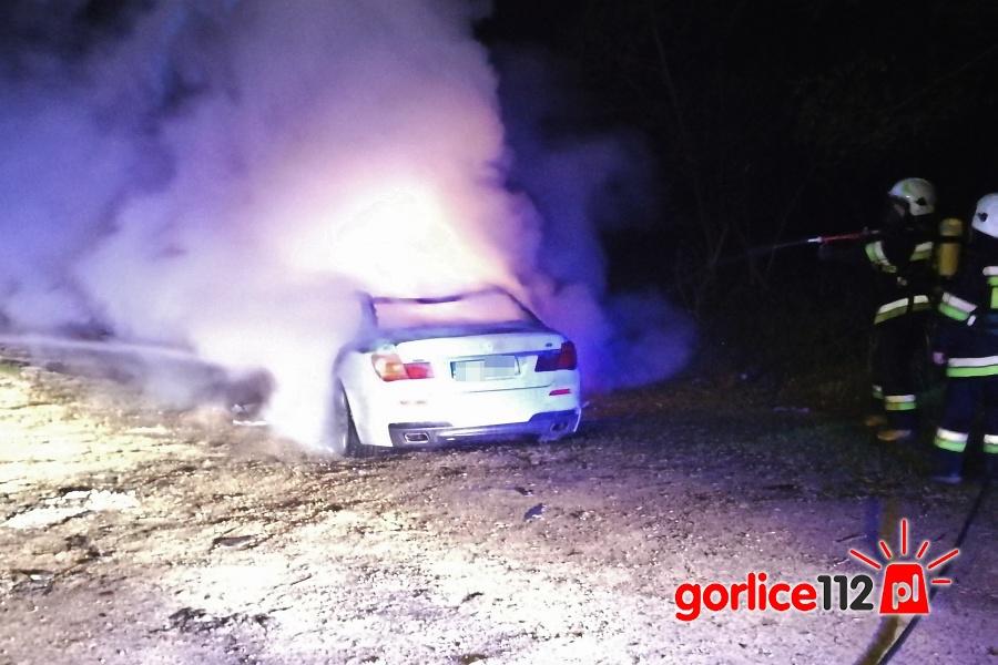 Bednarka: pożar luksusowego BMW 750M