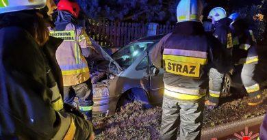Moszczenica k. Gorlic: zderzenie dwóch pojazdów. Jeden z kierujących uciekał