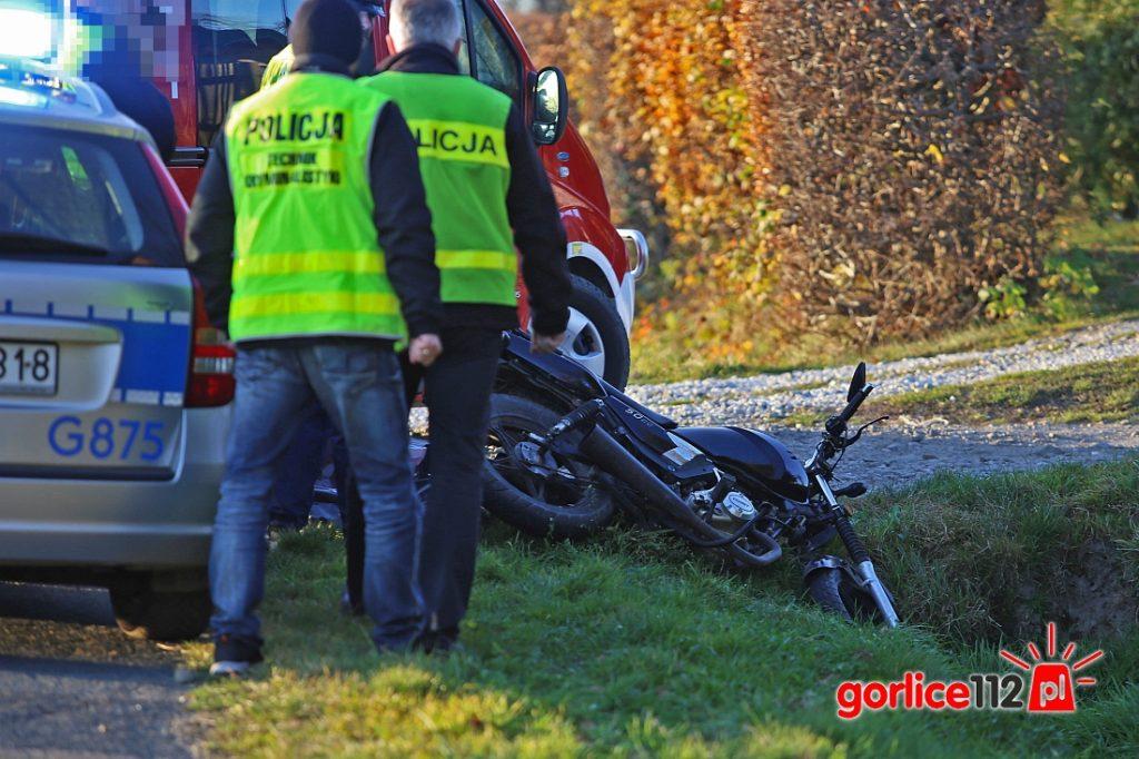 Sitnica: tragiczny wypadek motocyklisty