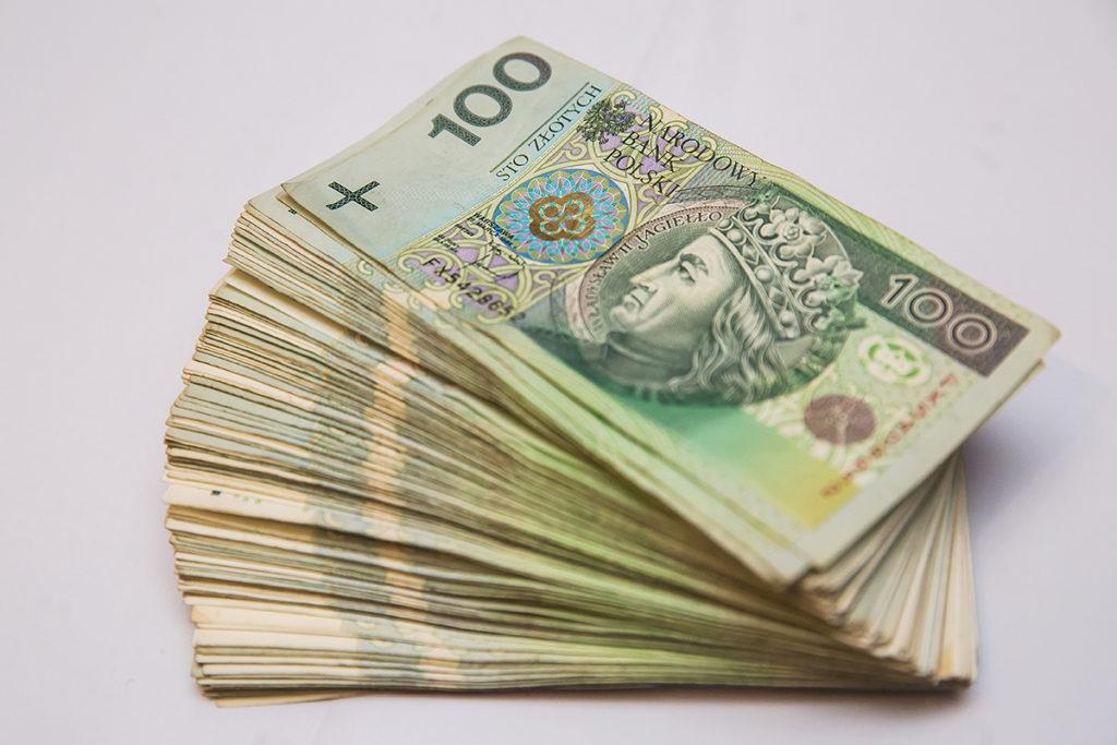 Pieniądze złotówki polskie banknoty