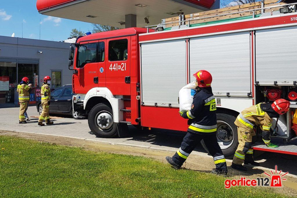 Wyciek paliwa na stacji paliw. Ropa (powiat gorlicki)