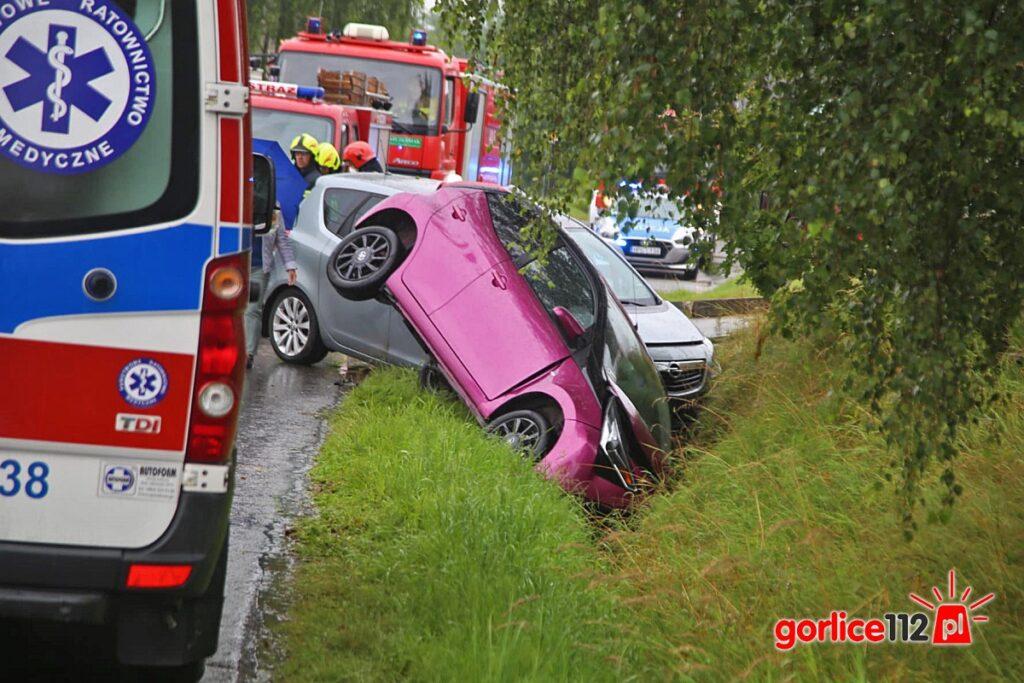 Moszczenica: zderzenie dwóch pojazdów. Jedna osoba ranna!