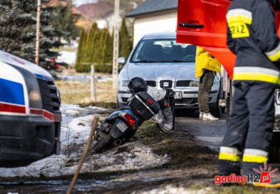 Zagórzany: zderzenie seata z motorowerem. Jedna osoba ranna!