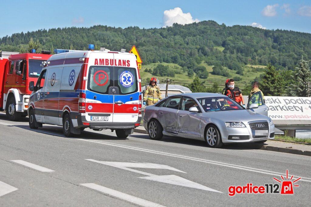 Ropa: wypadek na skrzyżowaniu DK28 z drogą powiatową