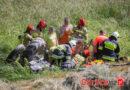 Szymbark: 22-latek przygnieciony przez ciągnik rolniczy. Pomocy udzielał śmigłowiec LPR (TV)