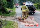 Bystra: VW Golf uderzył z impetem w betonowy przepust